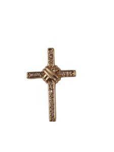 14k Yellow Gold Diamon Cross, .25ctw - $738