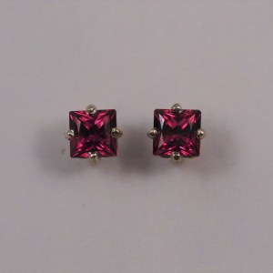 4mm Rhodalite Garnet Sterling Silver Earrings - $135