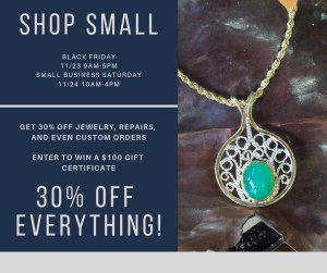 30% off for Black Friday and Small Business Saturday