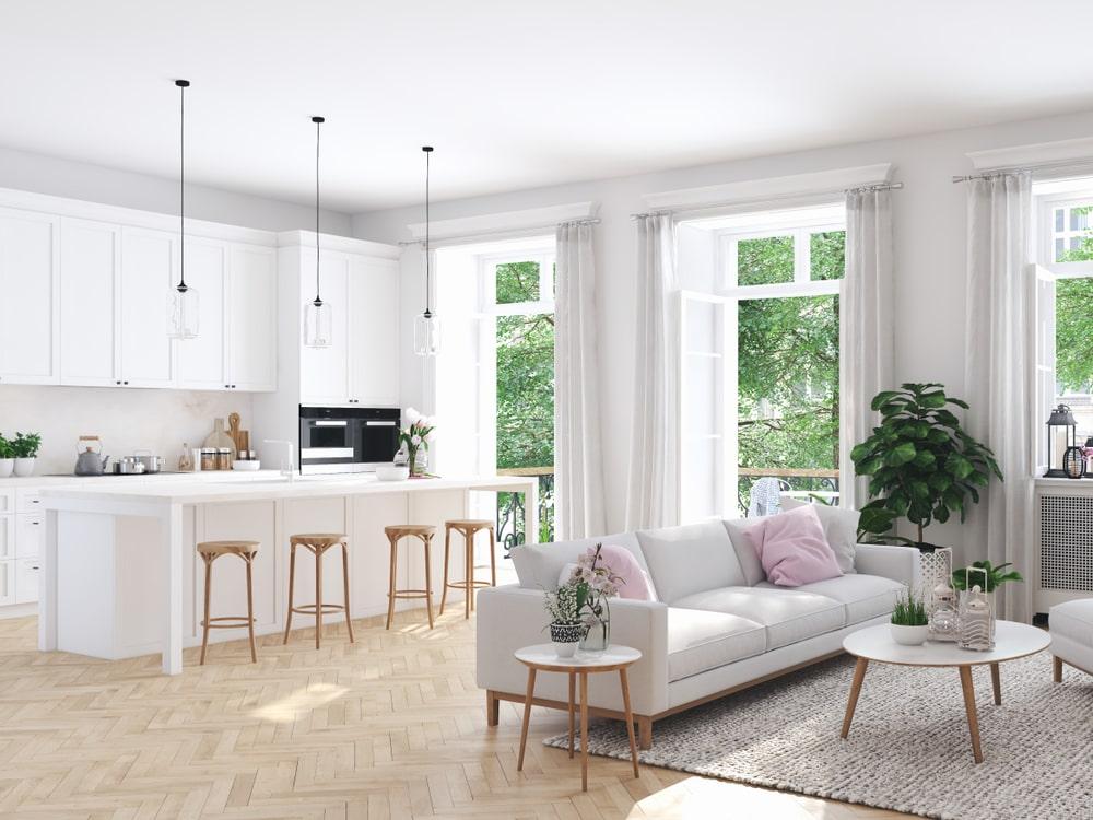 Come arredare un open space con soggiorno e cucina  Faber