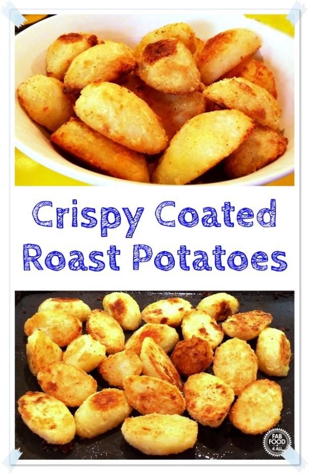 Crispy Coated Roast Potatoes - made with a savoury semolina coating! #potatoes #RoastPotatoes #Spuds #roast #RoastPotatoeRecipes #vegetables #vegetablerecipes #sidedish #ThanksGivingRecipe #ChristmasSideDish #SundayRoast #CrispyPotatoes #savourycoating #semolina #SemolinarRcipes