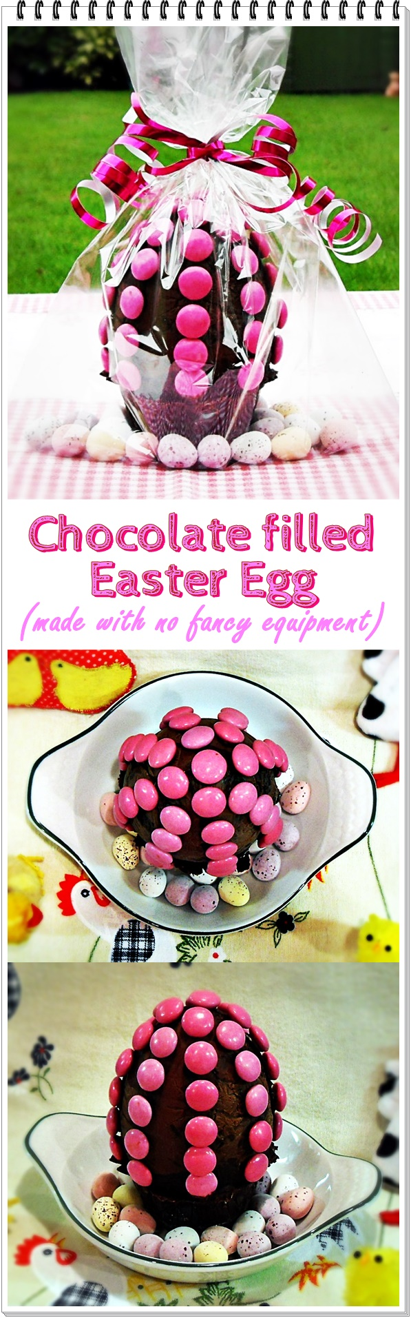 Chocolate filled Easter Egg (made with no fancy equipment) @fabfood4all