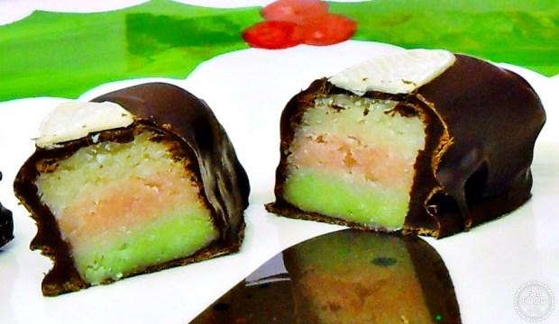 Neapolitan Marzipan Chocolates - Fab Food 4 All