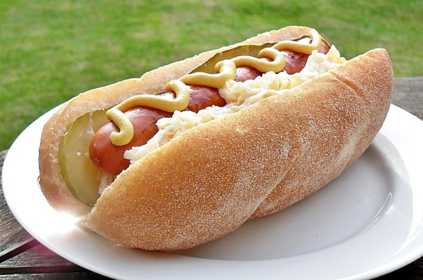 Hot Dogs with Krautslaw