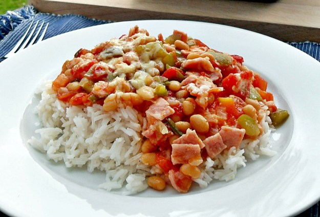 Family dish, quick, easy, delicious, bacon, baked beans, child friendly