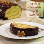 Apple & Chocolate Swiss Roll, low-fat, healthy, cake, dessert,