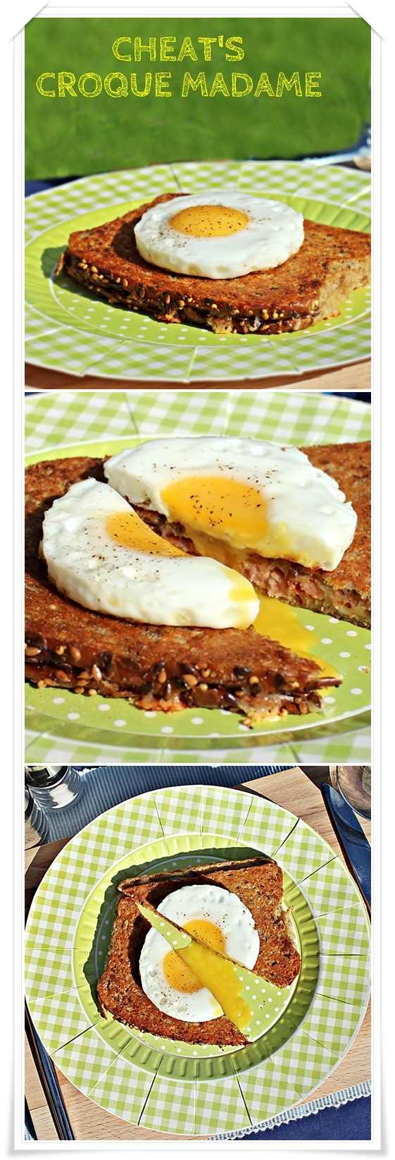 Cheat's Croque Madame, a quick and tasty toasted sandwich! Fab Food 4 All