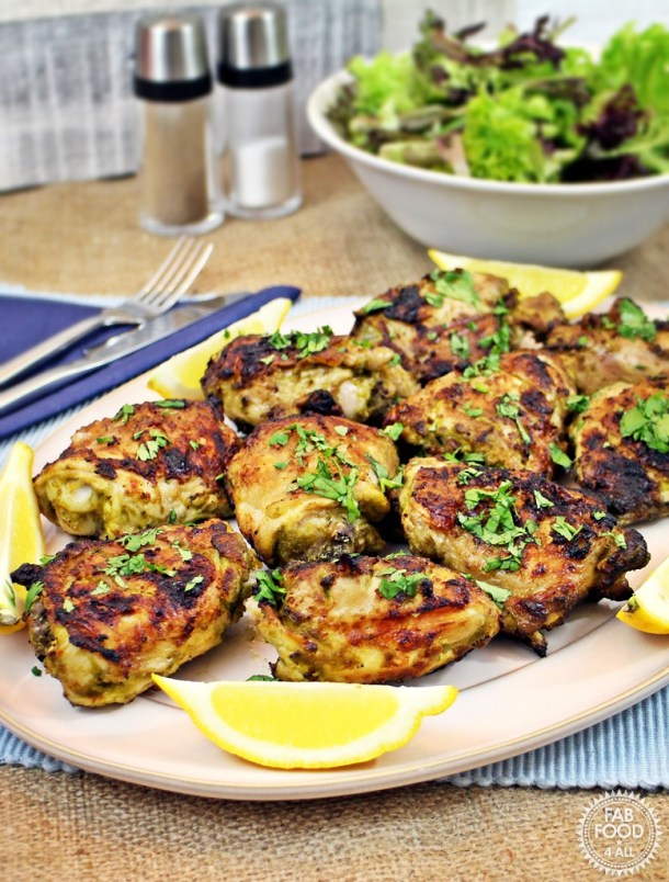 Baked and Barbecued Thai Chicken Thighs