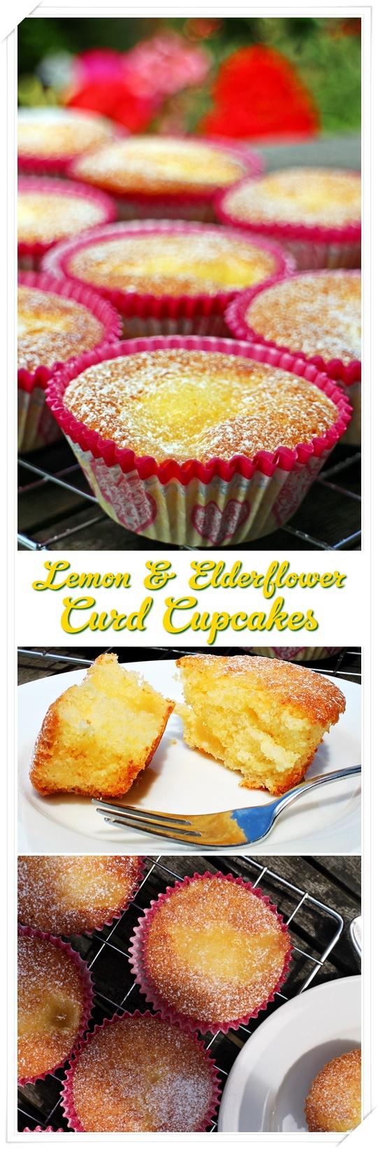Lemon & Elderflower Cupcakes - Fab Food 4 All