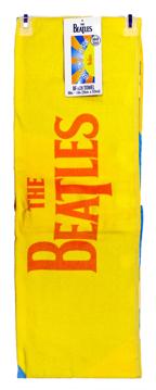 beatles shower curtain yellow