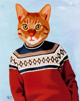 Cat in Ski Sweater