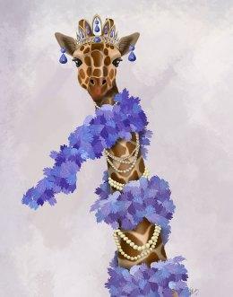 Giraffe with Purple Boa