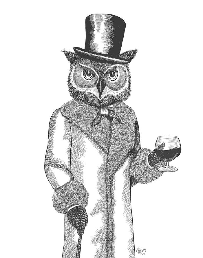 Portrait of Owl and Brandy