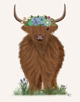 Highland Cow with Flower Crown 2