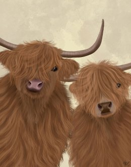 Highland Cow Duo