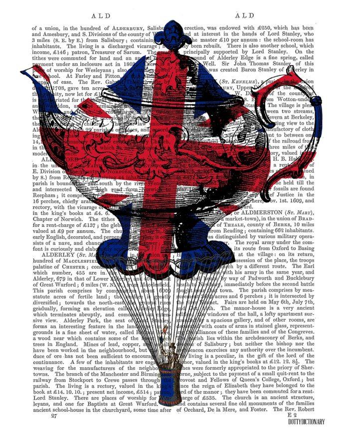 Union Jack Flying Teapot