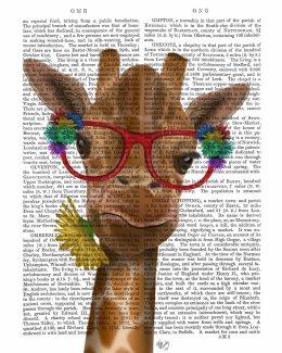 Giraffe and Flower Glasses 3