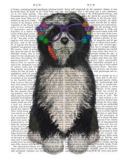 Tibetan Terrier Flower Glasses