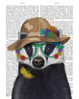 Badger and Flower Glasses