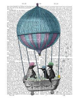 Penguins in Balloon Bath