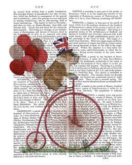 English Bulldog on Penny Farthing