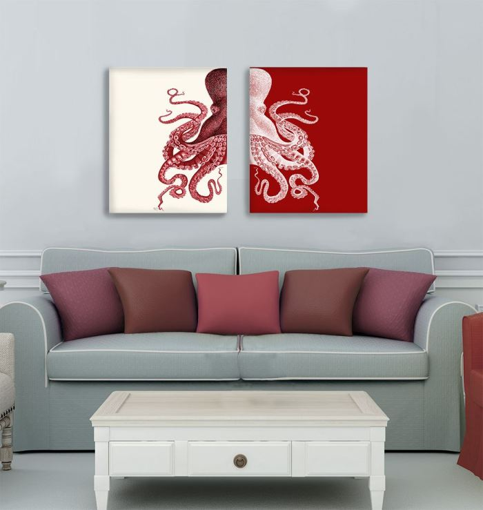 Red and Cream