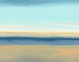 Summer Horizon Landscape Art Print
