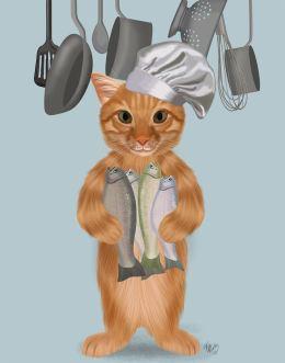 Ginger Cat Fish Chef