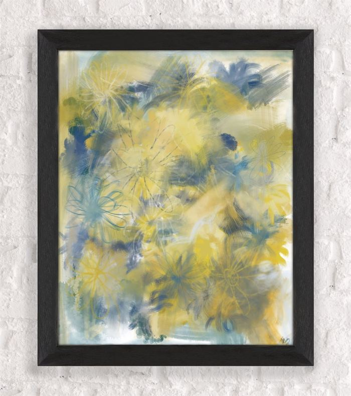 Crazy Daisy 1 Abstract Art Print