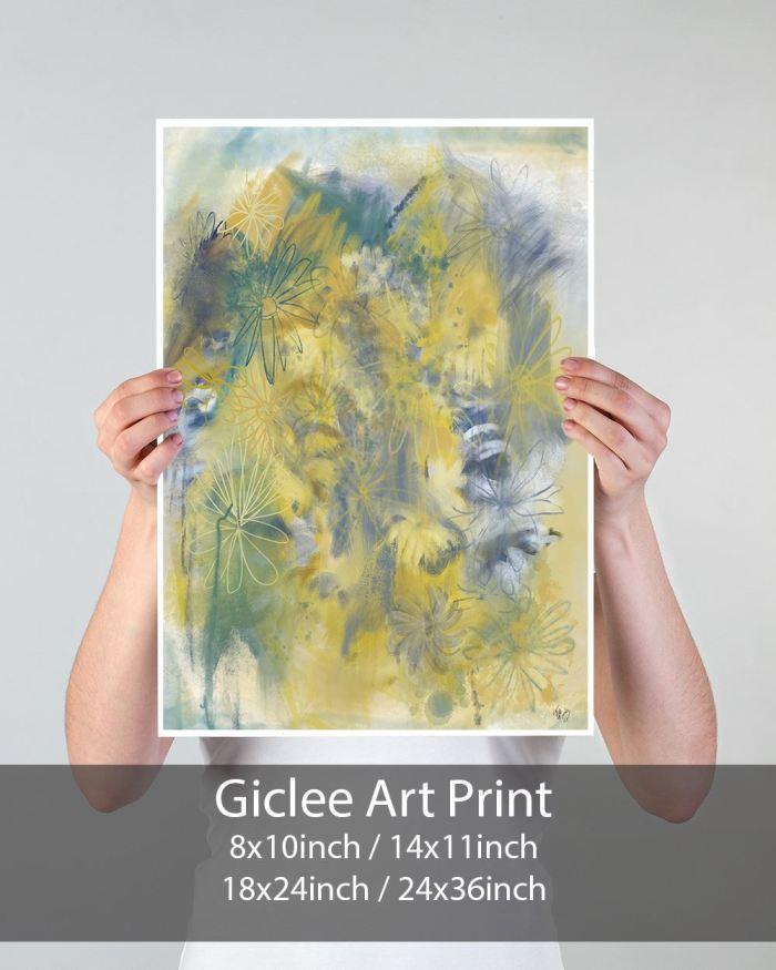 Crazy Daisy 2 Abstract Art Print