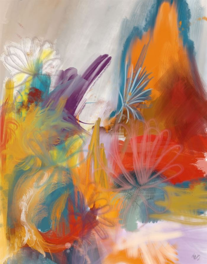 Floral Carnival 3 Abstract Art Print