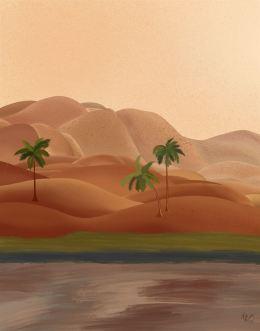 Palm Oasis 1 Tropical Art Print