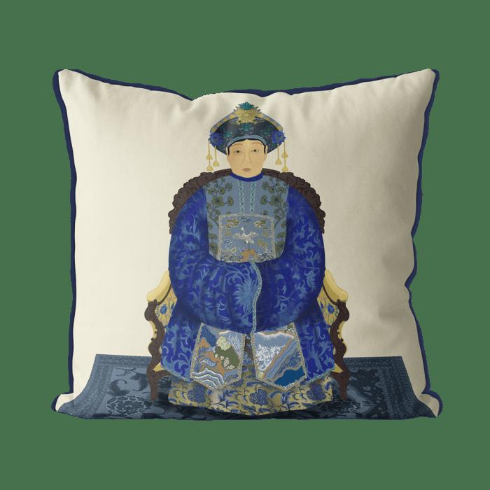 Chinese Empress 1_Blue On Cream