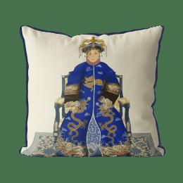 Chinese Empress 2_Blue On Cream