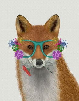 Fox and Flower Glasses