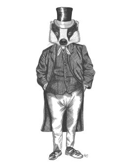 Badger in Checked Waistcoat