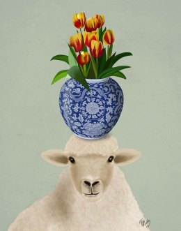 Sheep and Tulips