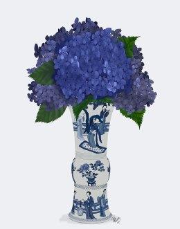Chinoiserie Hydrangea Blue