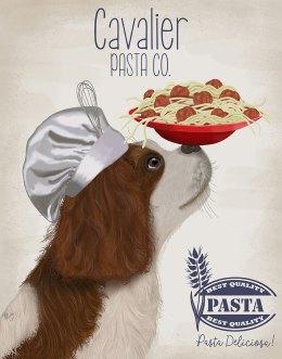 Cavalier Spaniel Brown White Pasta Cream