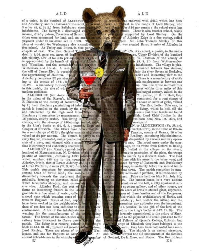 Bear with Cocktail