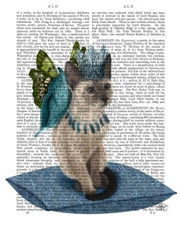 Cat with Blue Butterfly Wings