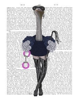 Ostrich with Kinky Boots