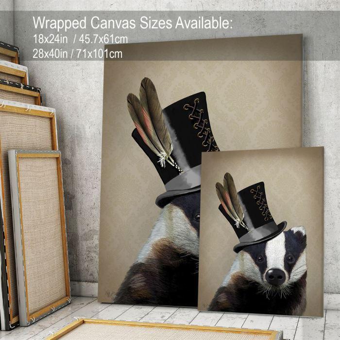 Steampunk Badger in Top Hat