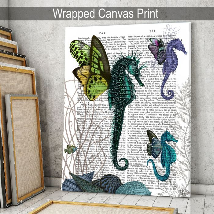 Seahorse Trio With Wings