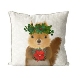 Squirrel and Holly Crown