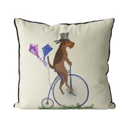 Airedale on Penny Farthing