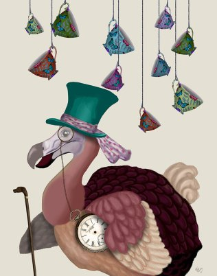 Dodo with Hanging Teacups