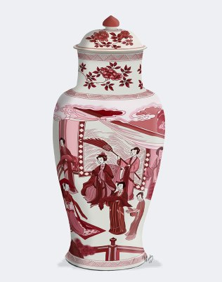 Chinoiserie Vase Queen Red
