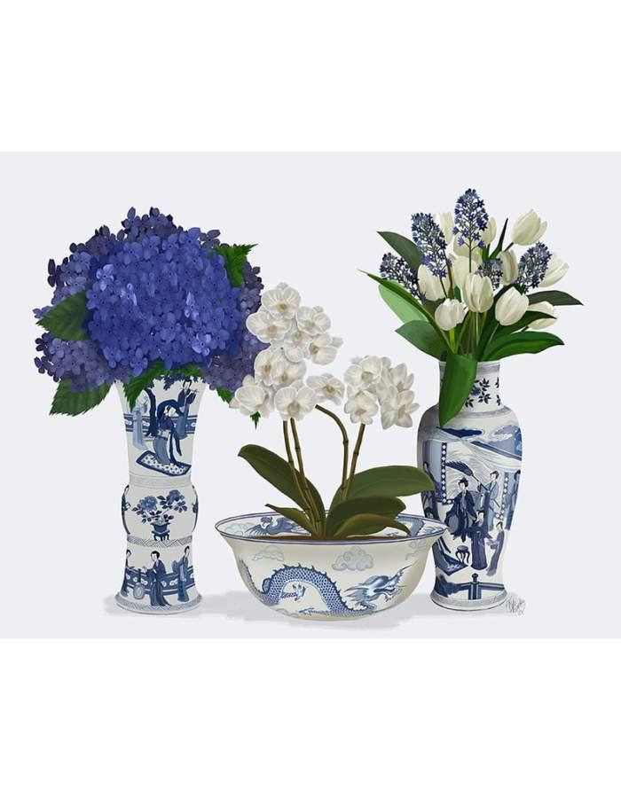 Chinoiserie Flower Trio 2