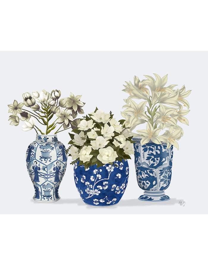 Chinoiserie Flower Trio 3